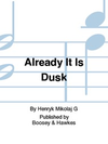 HAL LEONARD Gorecki: (Study Score) Already It Is Dusk, String Quartet No.1 (string quartet)