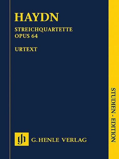 """HAL LEONARD Haydn, F.J. (Feder, Saslav, Feder, ed.)"""" String Quartets Vol. 8, Op. 64, """"Second Tost Quartets"""", Henle urtext (study score)"""