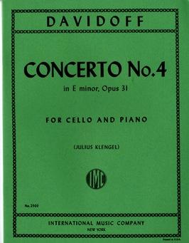 International Music Company Davidov, Carl (Loeb): Concerto No.4 Op.31 in E minor (cello & piano)