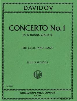 International Music Company Davidov, Carl (Loeb): Concerto No.1 Op.5 in B minor (cello & piano)
