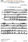 HAL LEONARD Messiaen, O.: (Score) Quartet for the End of Time (violin, clarinet, cello, and piano)