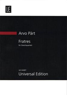 Carl Fischer Part, Arvo: SCORE Fratres string quartet (parts are not available)