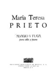 Carl Fischer Prieto: Adagio y Fuga (cello & piano)