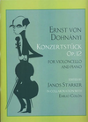 LudwigMasters Dohnanyi, Ernst (Starker): Konzertstuck Op.12 (cello & piano)