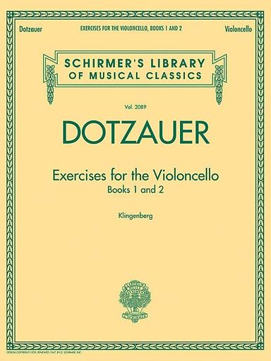 HAL LEONARD Dotzauer (Klingenberg): Exercises for the Violoncello, Vols.1 & 2 (cello)