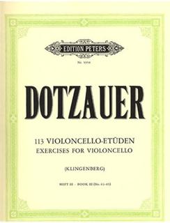 Dotzauer (Klingenberg): 113 Exercises for Violoncello Bk.3