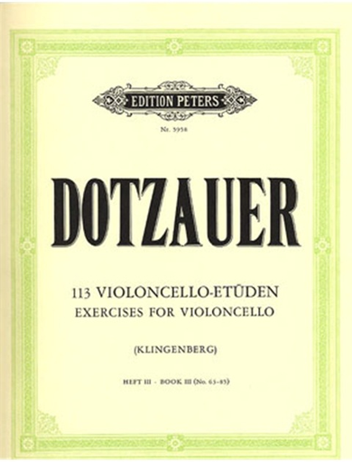Dotzauer (Klingenberg): 113 Exercises for Violoncello Bk.3