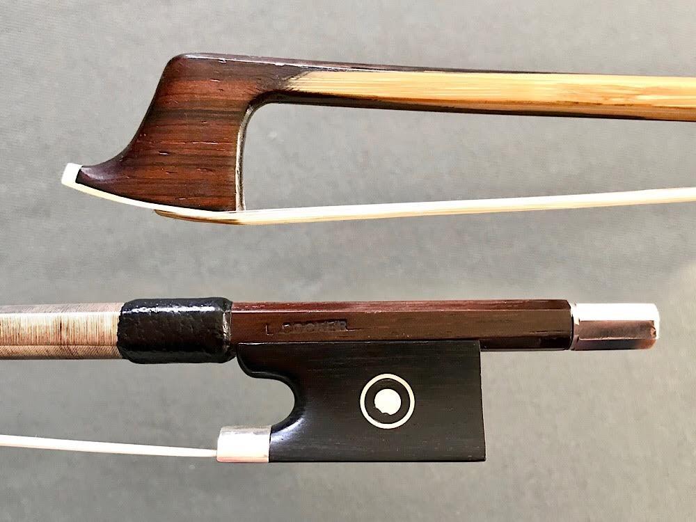 L. Cocker viola bow, silver/bamboo