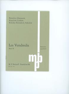 M.P. Belaieff Les Vendredis: SCORE String Quartet Collection, VOL. 2