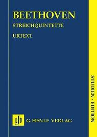 HAL LEONARD Beethoven (Kurth): (study score) String Quintets - URTEXT (score) Henle Verlag