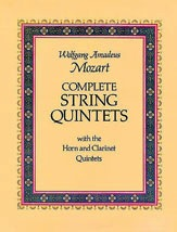 Dover Publications Mozart, W.A.: (Dover Score) Complete String Quintets with the Horn & Clarinet Quintets (mixed ensemble)