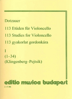 HAL LEONARD Dotzauer (Pejtsik): 113 Studies Vol.1 No. 1-34 (cello), Edito Musica Budapest