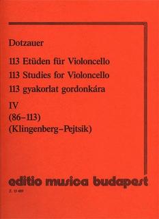 HAL LEONARD Dotzauer (Pejtsik): 113 Studies Vol.4, No.86-113 (cello), Edito Musica Budapest