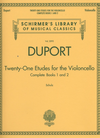 HAL LEONARD Duport: Twenty-One Etudes, Complete Books 1 and 2 (cello)