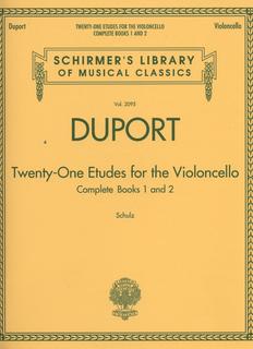 HAL LEONARD Duport: Twenty-One Etudes, Complete Books 1 and 2 (cello)
