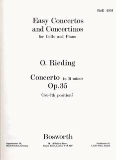 Bosworth Rieding, O.: Cello Concerto Op.35 in B minor (cello & piano)