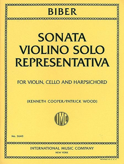 International Music Company Biber: Sonata Violino Solo Representativa (violin, Cello & piano)