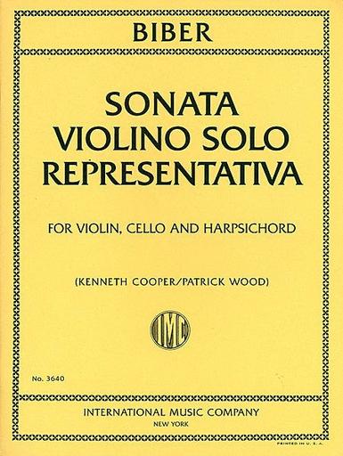 International Music Company Biber: Sonata Violino Solo Representativa (violin, Cello & piano)