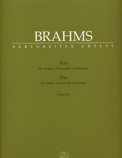 Barenreiter Brahms, Johannes: Trio Op. 101 in c minor (violin, cello & piano) Barenreiter