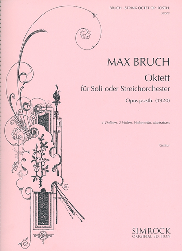 HAL LEONARD Bruch, M. (Wood): (Score) Concerto for String Orchestra (Octet), Op. Posthumous 1920 (string orchestra)