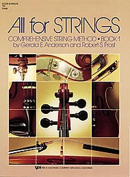 Anderson & Frost: (Score) All for Strings, Bk.1 (teacher's manual)