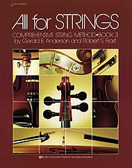 Anderson & Frost: (Score) All for Strings, Bk.3 (teacher's manual)