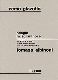 HAL LEONARD Albinoni, T.: (Score) Adagio in G minor (string orchestra, and organ)