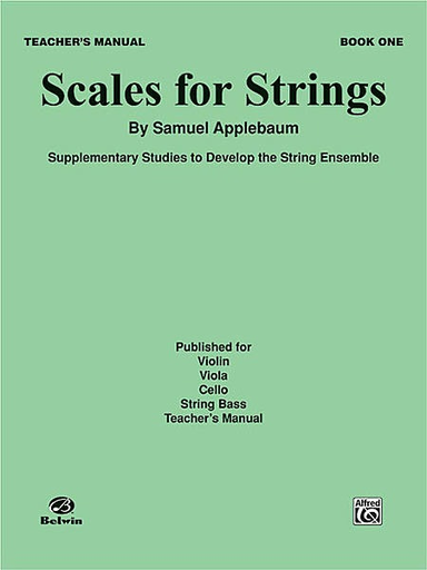 Alfred Music Applebaum, S.: (Score) Scales for Strings Bk.1