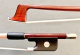 Brazilian CIRILO viola bow, half-mount, nickel/ebony
