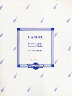Handel, G.F. (Arnold) Entrance of the Queen of Sheba (2 violas, piano)