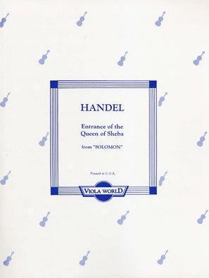 Handel, G.F. (Arnold) Entrance of the Queen of Sheba (2 violas, piano)