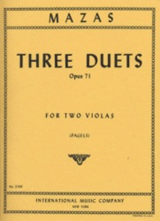International Music Company Mazas, J.F.: Three Duets Op.71 (2 Violas)