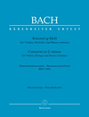 Barenreiter Bach: Concerto in G minor (violin, piano) Barenreiter