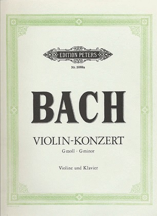 Bach, J.S. (Szigeti): Violin Concerto in  g  minor BWV 1056 (violin & piano)