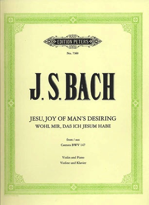Bach, J.S: Jesu, Joy of Man's Desiring (Violin & Piano)