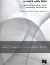 HAL LEONARD Bach, J.S. (Cacavas): Minuet & Trio (violin & piano)