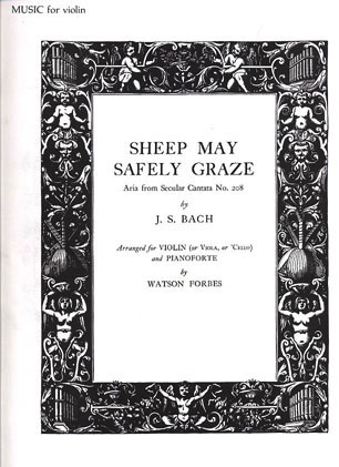 Oxford University Press Bach, J.S.: Sheep May Safely Graze (Violin & Piano)