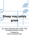 Oxford University Press Bach, J.S. (Forbes, arr.): Sheep May Safely Graze (violin or viola or cello and piano)
