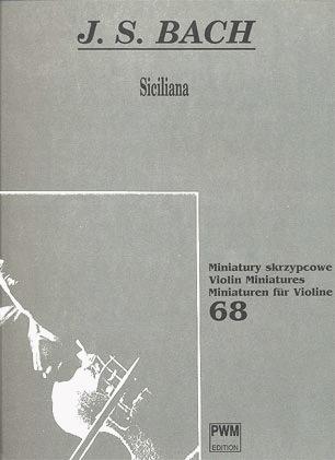 Carl Fischer Bach, J.S.: Siciliana (violin & piano)