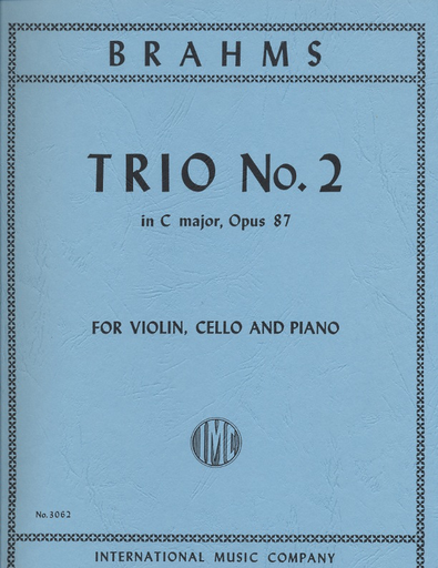 International Music Company Brahms, Johannes: Trio No.2 in C major Op.87 (violin, cello, piano)