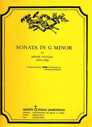 Eccles (Krane): Sonata in G minor (cello & piano)
