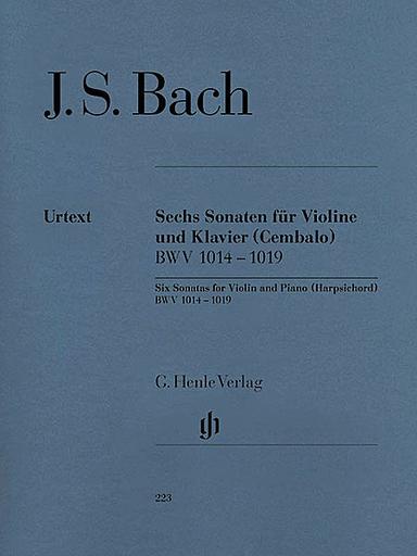 HAL LEONARD Bach, J.S. (Eppstein, ed.): 6 Sonatas, BWV 1014-1019, urtext (violin and piano)