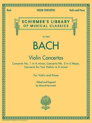 HAL LEONARD Bach, J.S.: Three Violin Concertos