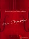 Bagdasarjanz, Ursula: Sept poesies pour Violon et Piano