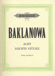 Baklanova, Natalja: 8 Easy Pieces (violin & piano)