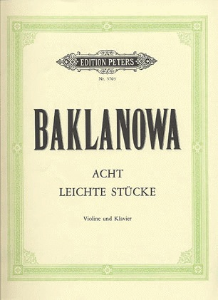 Baklanova, Natalja: 8 Easy Pieces (violin & piano)