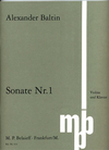 Baltin, Alexander: Sonate #1 (violin & piano)
