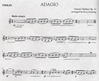 HAL LEONARD Barber, Samuel (Lanning): Adagio Op.11 (Violin and Piano)
