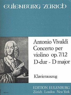 Edition Kunzelmann Vivaldi, A.: Concerto in D Op.7 No.12 (violin & piano)