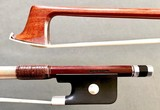 EMIL RICHAUD Pernambuco viola bow, ebony & silver, used